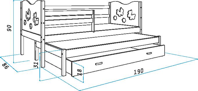 Кровать с выдвижным спальным местом своими руками чертежи 54